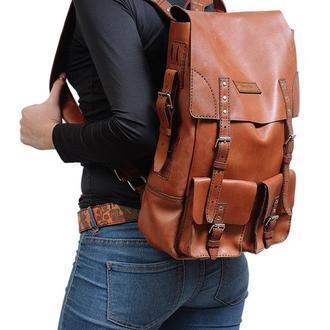 Рюкзак середній коричневий Франко | Franko medium brown backpack