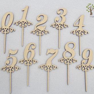 Топперы с цифрами