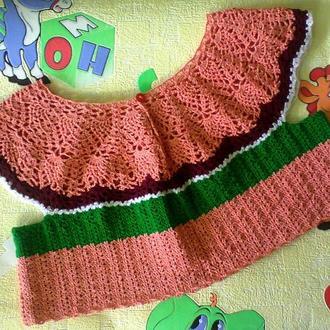 Нарядное вязаное болеро