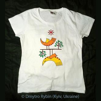 Эксклюзивная футболка. 2 птички. Инь ян. Влюбленные. Ко дню Святого Валентина