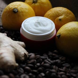 """Крем с кофеином и имбирём для лица и шеи ручной работы """"Эко Гармония"""" 50 мл"""