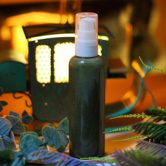 «Сказки зимнего леса» - Гель-скраб для умывания с зеленой глиной и гранулами жожоба,