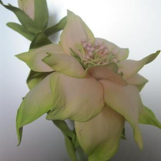 Цветок с бутоном из фоамирана