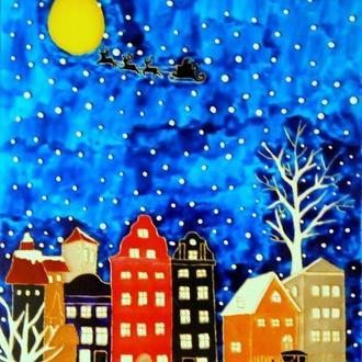 Витражная картина «Волшебное Рождество в Амстедаме»