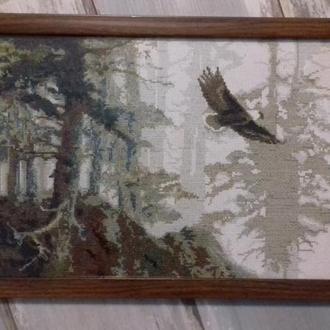 Вышитая картина  - Орел