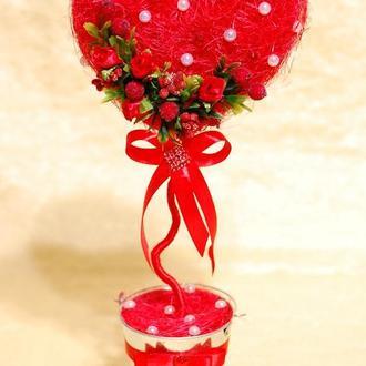Сердце-топиарий на день влюбленных