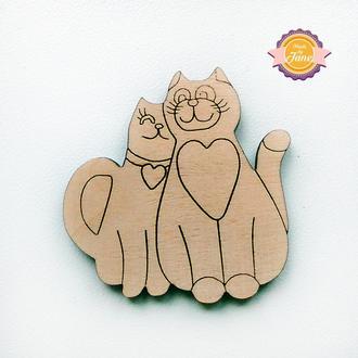Фигурные накладки (шильды) Пара котиков