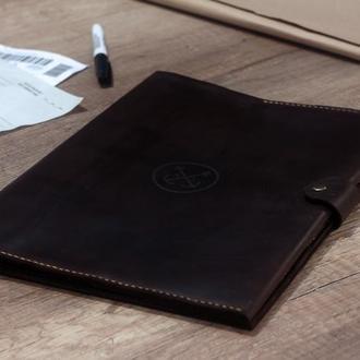 Кожаная папка для морских документов + Гравировка! Папка моряка, органайзер, клатч, чехол