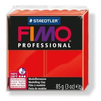 Глина полимерная FIMO Professional 85г красная 8004-200