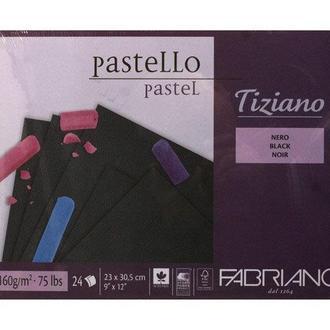 Альбом для рисования А4 24л. 160г/м2 Tiziano Black F-46723305