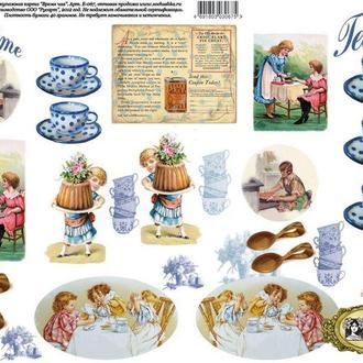 Декупажная карта-бумага 29,5*42см Vintage Design Tea Time Е-067