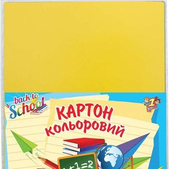 Картон цветной детский А4 12л. 1 Вересня 12цв. Глянцевый 950254