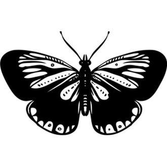 Штамп акриловый. Бабочка-4 4,2х2,6см
