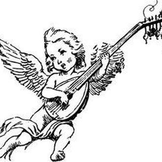 Штамп акриловый. Ангельская песня 4,6х3,5см