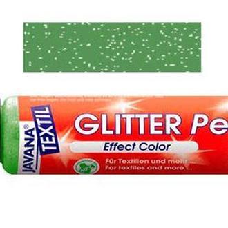 Краска для ткани и кожи KREUL 29мл glitter pen Зеленая Оливковая KR-92242