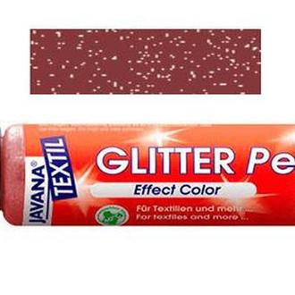 Краска для ткани и кожи KREUL 29мл glitter pen Коричневая KR-92243