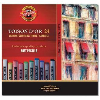 Пастель сухая KOH-I-NOOR Toison Dor набор 24шт. 8514
