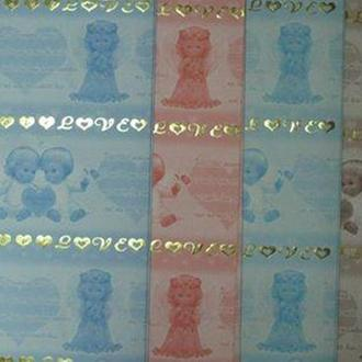 Бумага упаковочная LINE ART №13 62*62см Ангелочки Love