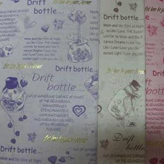 Бумага упаковочная LINE ART №14 62*62см Drift Bottle