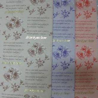 Бумага упаковочная LINE ART №28 62*62см Розы