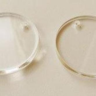 Заготовка акриловая прозрачная Albinos (2шт) Кружочки d2см АЛБ-А00015
