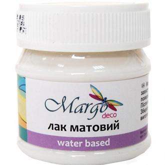 Лак матовый на водной основе Margo Matte 50мл 005249