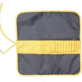 Пенал для кистей Rosa Studio ткань 37*37см асфальт - желтый 231101