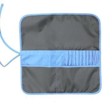 Пенал для кистей Rosa Studio ткань 37*37см асфальт - синий 231103