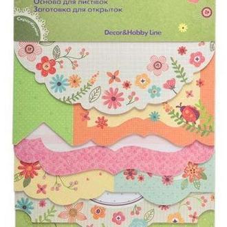 Набор заготовок для открыток ZiBi 10,2*15,3см Spring ZB18216-AF