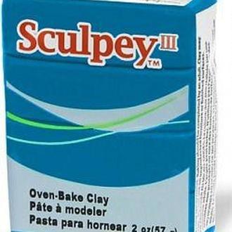 Глина полимерная Sculpey III Бирюзовая 57г 505