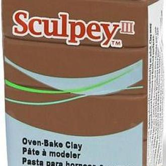 Глина полимерная Sculpey III Коричневая 57г 1657