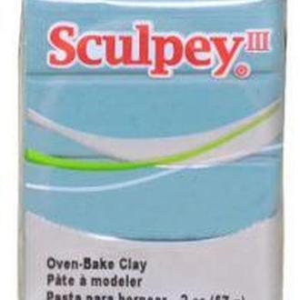 Глина полимерная Sculpey III Голубая лагуна 57г