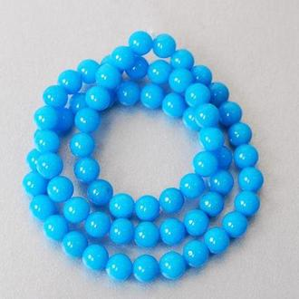 Бусины халцедоновые Margo, 6мм, 65 шт., Синие 8015834