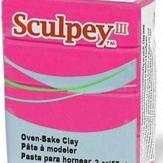 Глина полимерная Sculpey III Розовая темная 57г 503