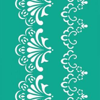 Трафарет самоклейка многоразовый 13*20см Rosa Talent Бордюрный №501 серия Ажур GPT50045818