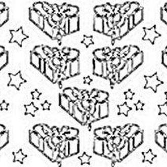 Наклейка скрапбукинг Peel-offs 10*23см Подарок Золотая A-P1803-GOLD 91