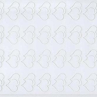 Наклейка скрапбукинг Peel-offs 10*23см Сердечки Белая A-P1872-WHITE 10