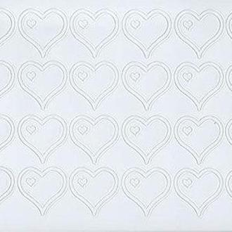 Наклейка скрапбукинг Peel-offs 10*23см Сердечки Белая A-P1952-WHITE 10