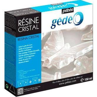 Двухкомпонентная эпоксидная глазурь Суперглянцевая GEDEO 150мл Прозрачная P-766150
