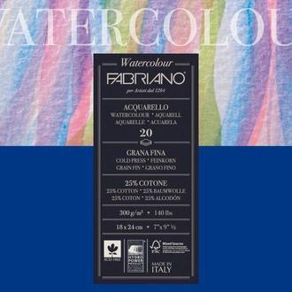 Бумага-склейка для акварели Fabriano А4 20л. 200г/м2 Watercolour среднее зерно 72612432