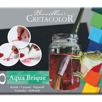 Краски акварельные Aqua Brique 10 цв + спонж, Cretacolor Aqua Brique 41510
