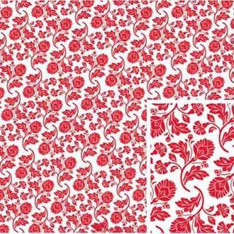Декупажная карта-бумага 50*70см интерьерная 99047 Красный Бомбей