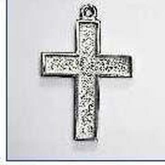 Кулон для декора под мозаику, гранулы, цернит Крест 38*27мм MHB-8401-40