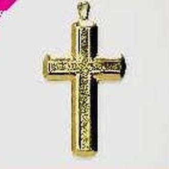 Кулон для декора под мозаику, гранулы, цернит Крест золотой 43мм  MHB-8404-17