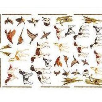 Декупажная карта-бумага 50*70см 99006 Птицы и охотничьи собаки