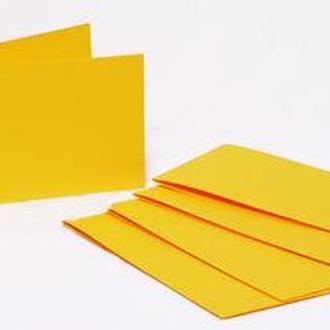 Набор заготовок для открыток 5шт 15,5*15,5см №2 Желтый 220г/м Margo 94099012