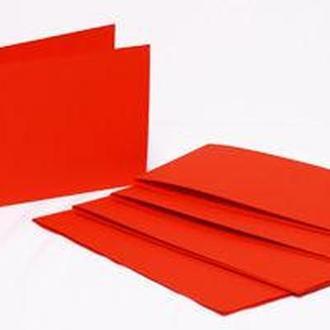 Набор заготовок для открыток 5шт 15,5*15,5см №9 Красный 220г/м Margo 94099019