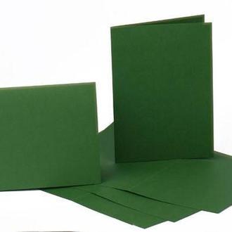 Набор заготовок для открыток 5шт 21х10,5смсм №11 темно-зелёный 220г/м Margo 94099060