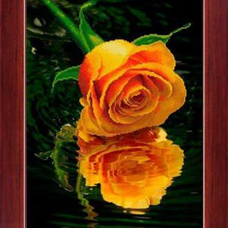 Набор алмазной вышивки LasKo 5D-032 Роза над водой