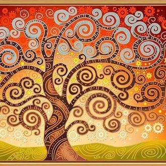 Набор для вышивания бисером Nova Sloboda 61*41 см БИС0282 Дерево счастья